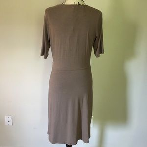 Tommy Bahama Dresses - Tommy Bahama ruched wrap t-shirt dress. Brown